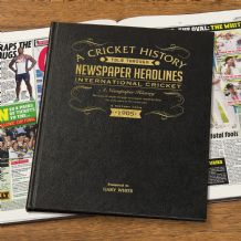 England Cricket History - Newspaper Book
